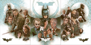 The Dark Knight Trilogy Matching Number Set by Neil Davies