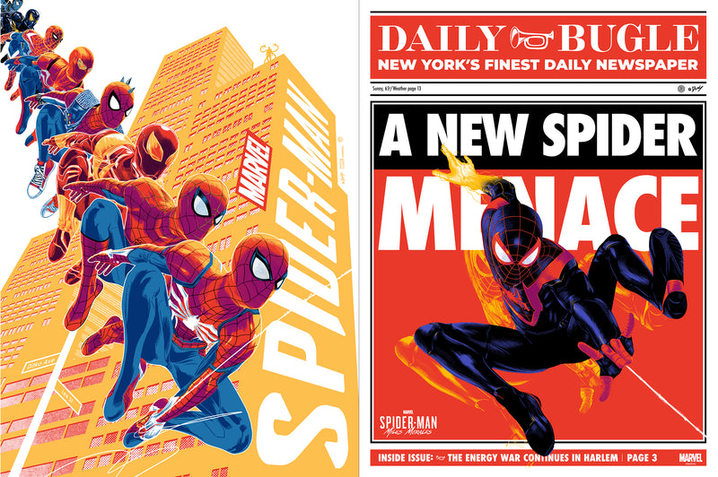 Spider-Man PS4 & Spider-Man: Miles Morales Matching Number Set by Doaly