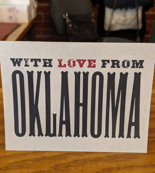 With Love From Oklahoma Card Single