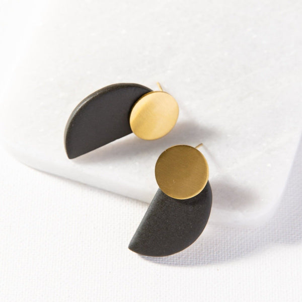 Half Circle Post Earrings