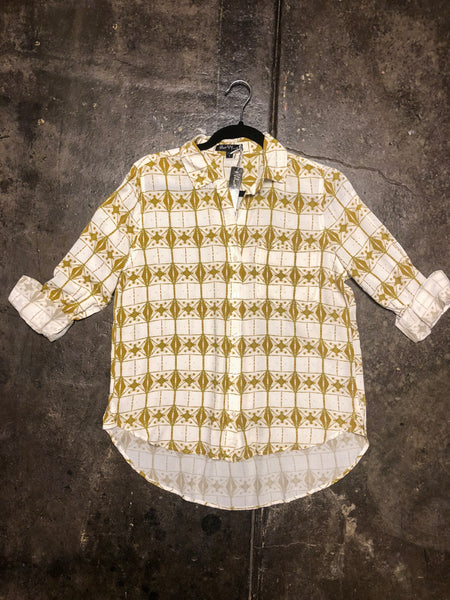 Elisa Olive Diamond Shirt