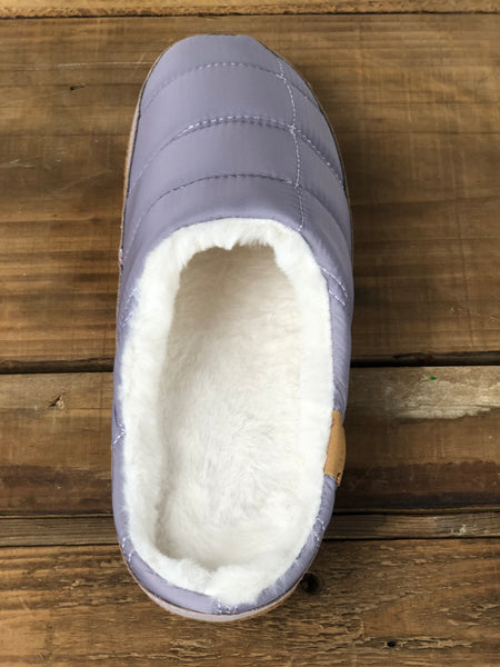 Toms Lavender Quilted Womens Slipper