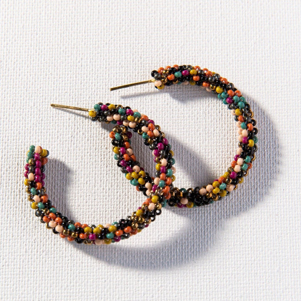 Muted Confetti Small Hoop Earring