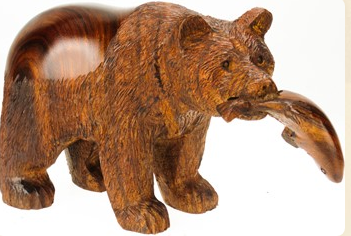 Earth View Ironwood Grizzly with Fish