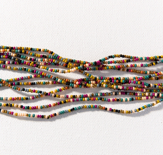 Confetti Seed Bead Mask Necklace