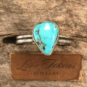 Love Tokens Teardrop Turquoise Ring