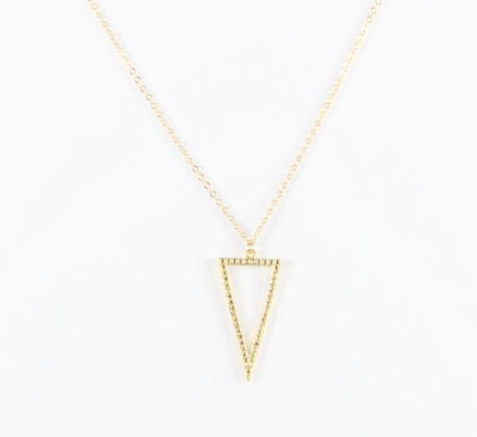 BB Lila Hollow Man Triangle Necklace