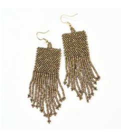 Seed Bead Earring - Multiple Colors
