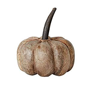 Creative Co op Mango Wood Pumpkin
