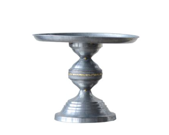Decorative Galvanized Metal Pedestal