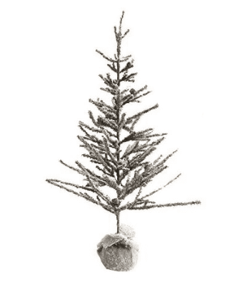 Artificial Fir Tree w/ Burlap Base - Small