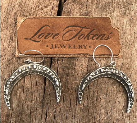 Love Tokens Crescent Earrings