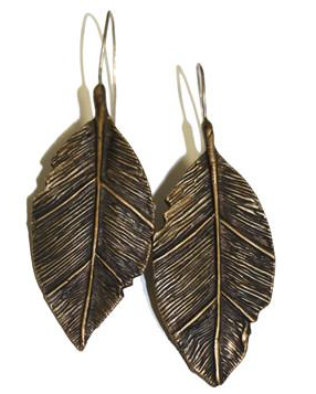 Love Tokens Leaf Drop Earrings