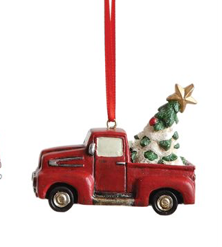 Creative Co-op Resin Truck or Tractor Ornament