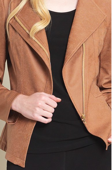 Liquid Leather Zip Jacket
