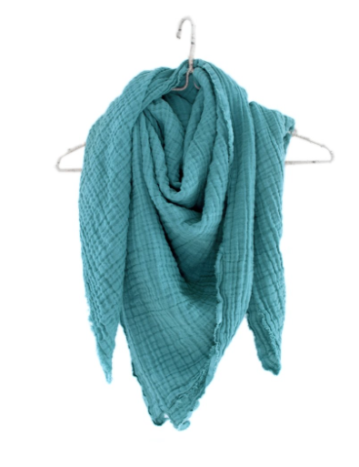 Crinkled Gauze Scarf - 5 Colors