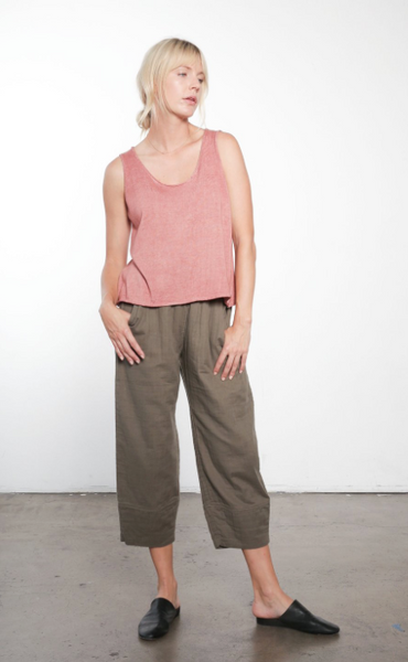 Gauze Wide Leg Pant - Olive or Purple