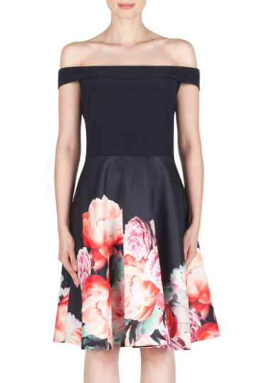 Joseph Ribkoff - Color Block Dress with Print