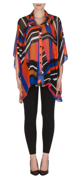 Joseph Ribkoff Muti Color Sheer Blouse