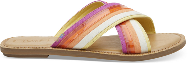 Toms Multi Color Canvas Slip on Sandal