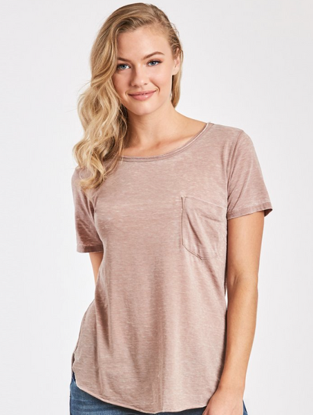 Another Love - Sam Burnout Tee - Light Mocha