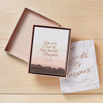 Compendium Words to Inspire Notecard Set