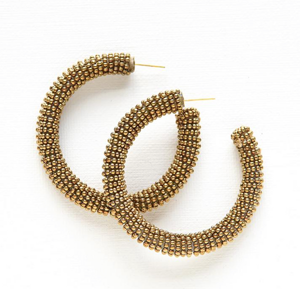 Seed Bead Solid Hoops
