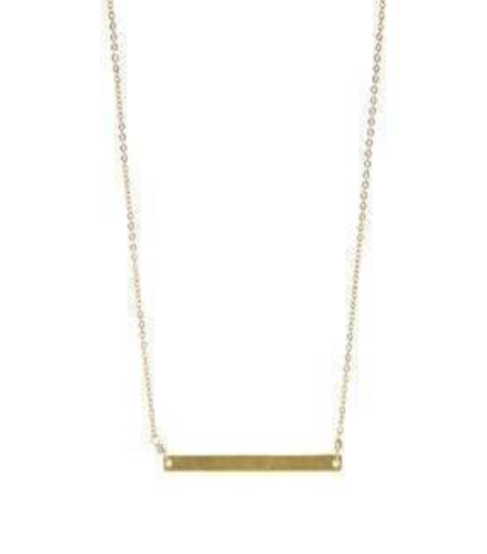 Walk the Line Straight Necklace