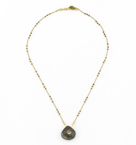 Labradorite on Fancy Ball Chain
