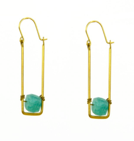 Floating Sugarcube Earrings - 2 Stone Choices