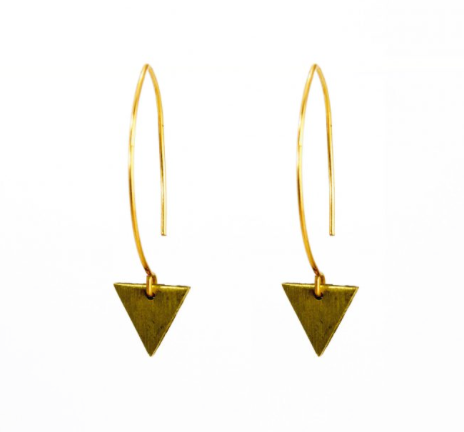 Tiny Triangle Wire Earrings