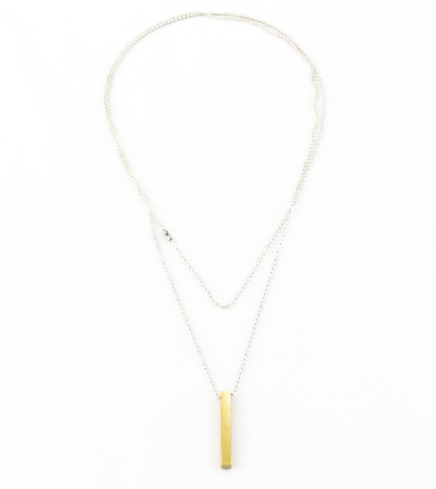 Long Gold Bar Necklace - 3 Colors
