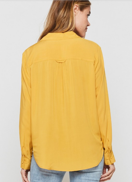 Eleni Long Sleeve in Honey Gold