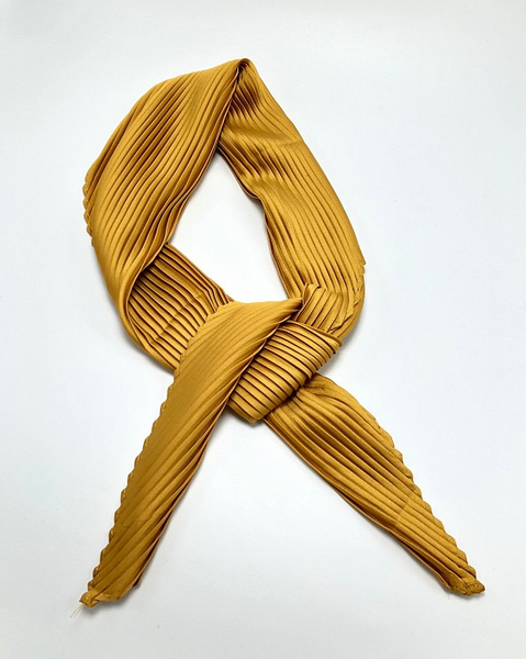 Pleated Silky Scarf