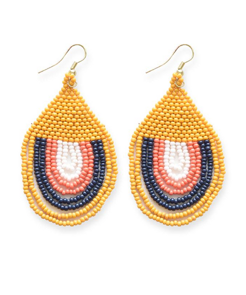 Sunset Seed Bead Earrings - 2 Colors