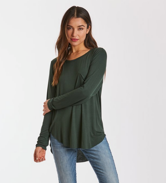Josephine Long Sleeve - Hunter Green - Olive or Purple
