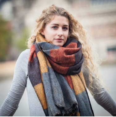 The Curious Yak Blanket Scarf - Sunrise
