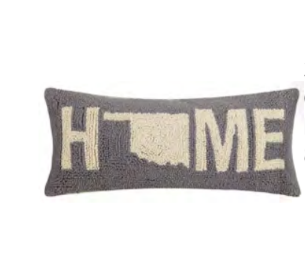 Oklahoma Home Hook Pillow