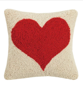 Red Heart Hook Pillow
