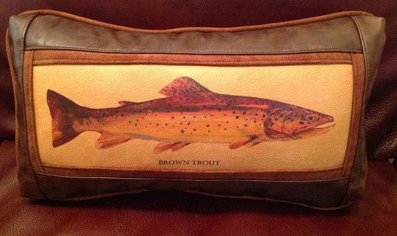 Brown Trout 11 x 20 Frame Pillow