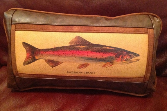 Rainbow Trout 11 x 20 Frame Pillow