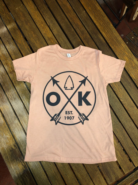 Kids Baby pink OK Arrow Tee