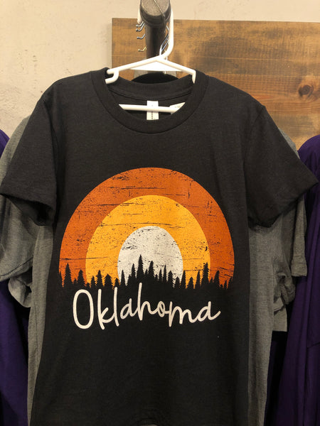 Kids Black Oklahoma Tee