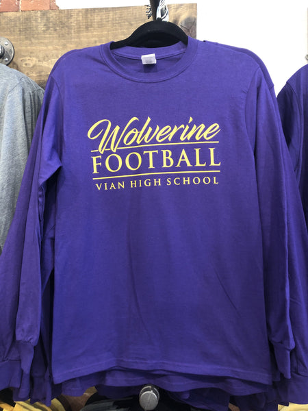 Youth Long Sleeve Wolverine Football