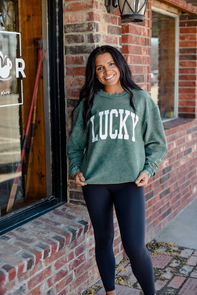 Friday + Saturday Lucky Corded Sweatshirt