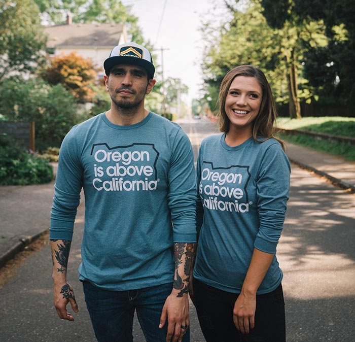 Oregon T-Shirt, Oregon is Above Long Sleeve Tee