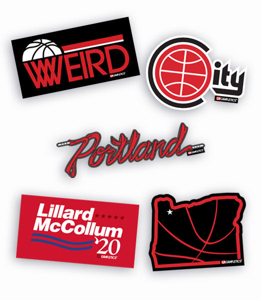 Portland Basketball Sticker Pack