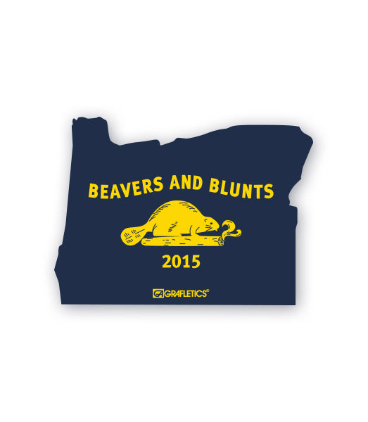 Oregon Beavers and Blunts Sticker by Grafletics