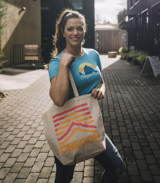 Oregon inspired Mt. Hood Tote Bag by Grafletics