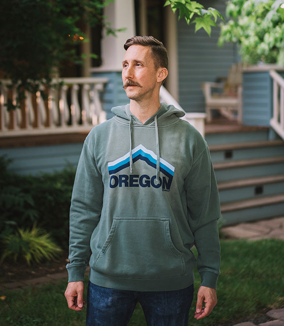 Oregon, Mt. Hoodie Pullover Sweatshirt by Grafletics